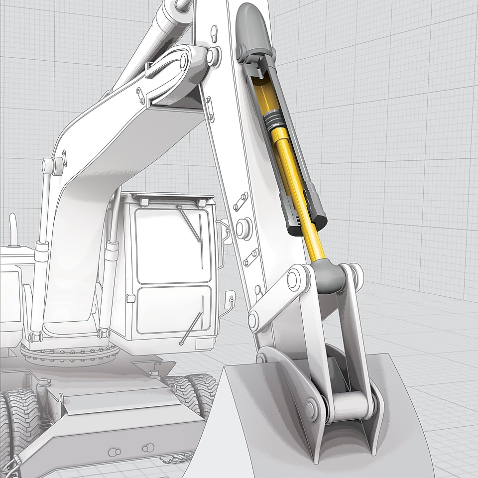 drawing of a excavator