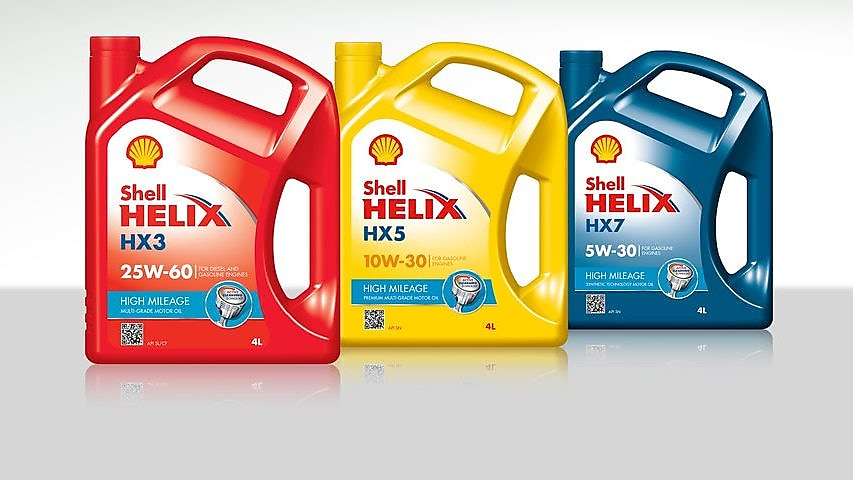 Lubricantes Shell Helix High Mileage