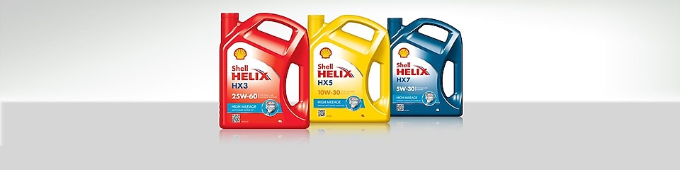 Gama de aceites Shell Helix High Mileage